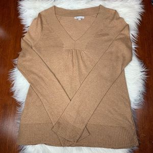 Gap Tan V-neck Made With Cashmere Sweater Small
